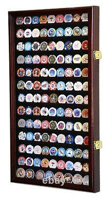 Large Coin Poker Casino Chip Display Case Cabinet Wall Rack 98% UV Lockable
