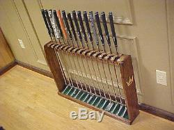 Large Wood Floor Display Rack Case for 14 Rare Scotty Cameron Putters Golf Clubs