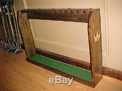 Large Wood Floor Display Rack Case for set 14 Scotty Cameron Putters Golf Clubs