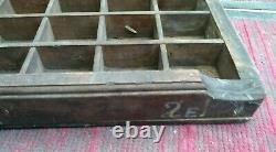 Letterpress Type Case Vintage Print Tray Wood Printers Curios Display 83x36x5cm