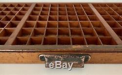 Letterpress Type Case Vintage Print Tray Wood Printers Drawer Curios Display