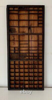 Letterpress Type Case Vintage Printers Tray Wood Drawer Curios Display