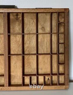 Letterpress Type Case Vintage Printers Tray Wood Print Drawer Display Small