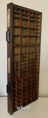 Letterpress Type Case Wood Print Drawer Printers Tray Curios Display Refurbished