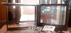 Levenger Dark Cherry Wood Finish & Glass 20 Pen Display Case In Very Nice Cond