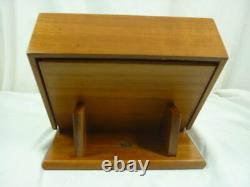 Levenger Well-Read Life Wood 16 Pen Display Case Vintage Storage Box 21C038