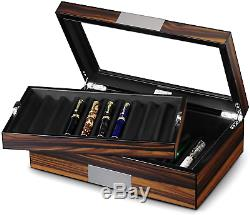 Lifomenz Co QUALITY Pen Display Box Luxury Wood Collection 20 Pen Display Case