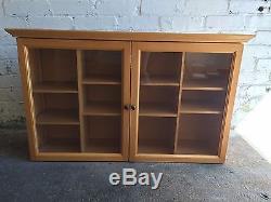Longaberger Wood Cabinet for 12 JW J W Miniature Basket Baskets Display Case