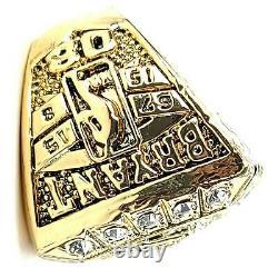 Los Angeles Lakers Kobe Bryant 6 Championship Ring Box Set & Wood Display Case