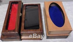 Lot of 6 Glass Top Wood Display Boxes, Shadow Boxes, Wood Show Cases
