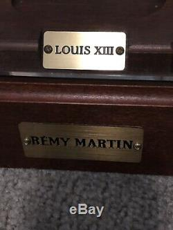 Louis XIII Remy Martin Cognac Baccarat Crystal Bottle Display Wood Case Light up