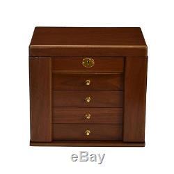 Luxury Jewellery Box walnut wood storage display case ring jewelry organizers