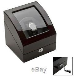 Luxury Single Automatic Watch Winder Wood Display Case Storage Organizer Box