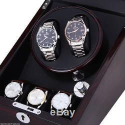 Luxury Wood Watch Winder 2+3 Leather Storage Display Case Box Automatic Rotation