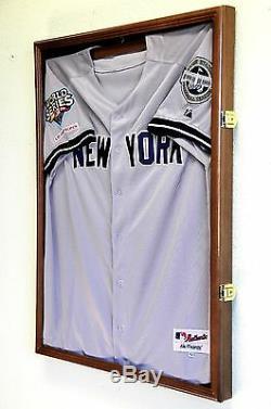 MLB Baseball Jersey Display Case Frame Wall Box Cabinet 98% UV Shadowbox Locks