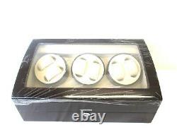 Maselex Automatic Watch Winder for 6 Watches 7 Storage Display Box Case WW10