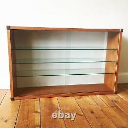 Mid Century Teak Wall Mounted Beaver & Tapley Display Cabinet 1970s 60s Interior