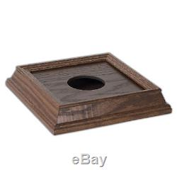 Mini Ball Display Case with Wood Base Cherry