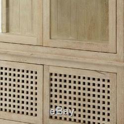 Minimalist Light Wood Cabinet Display Case Modern Contemporary Coastal Vitrine