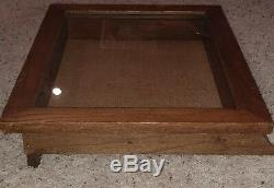 Mitchell's Shooting Glasses Ithacagun Wood Glass Store Display Case Hinged RARE