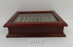 Montefiore Pens Lot Of 8 Pens With Nice Wood / Glass Display Case