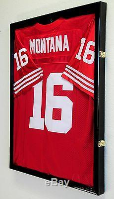 NFL Football Jersey Display Case Frame Wall Box Cabinet + FREE 5x7 Picture Frame