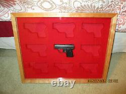 New Custom Wood Double Pistol Display Case In For Colt 1911, Python, Saa