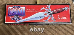 New GOLD Hornet dagger knife #819/1500 with display Case 1997 By Gil Hibben