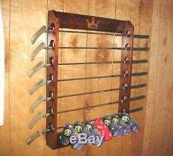New Wood Golf Club Display Rack Case for 7 Scotty Cameron Putters & Head covers