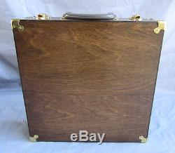 Newly Constructed Walnut Wood Display/Carrying Case with Brass Corners & Hardware