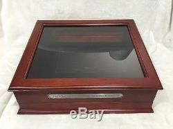 Old Coins Complete Us Statehood Quarters Collection Wood Display Case Box