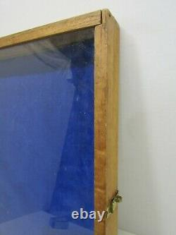 Old Wood-wooden Large Glass Jewelry Display Case