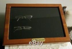 POLO RALPH LAUREN Wood/Glass EYEWEAR Countertop Display Case Eyeglasses
