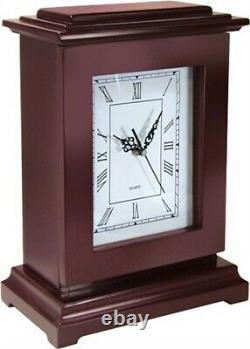 PS Rectangular Concealment Solid Wooden Clock withAA Battery Brown RGC