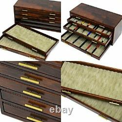 Pen Display 100 Slot Stationery Fountain Collection Storage Toyooka Craft WOODEN