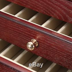 Pen Display 5 Layers Luxury Wooden Box Fountain Pen Large-capacity Storage Case