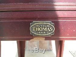 Qvc Thomas Pacconi Nascar Diecast Cherry Wood Revolving Wood Display Case 1/24