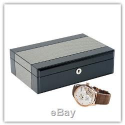 Quality Watch Jewelry Display Storage Holder Case Glass Box Organizer Gift 4te