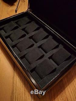 RARE Giorgio Armani Casa 10 Slot Watch Display Case Black Lacquered Wood NWT