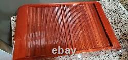 RARE OMEGA 8 Watch Wood Lacquer Display Storage Case Box