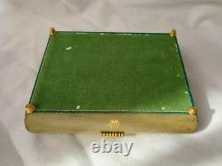 ROLEX 50s Ribbon Box Case with Feet Green 1950s Vintage Submariner Leather Display