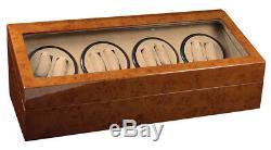 Random Finish Wood 8 + 12 Automatic Watch Winder Display Case Box Renewed