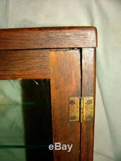 Rare Antique West's Cream Gum Store Oak 3 Shelf Wood Display Case Original Label
