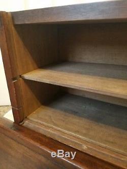 Rare Antique Wood Salesmans Case with Dovetail Edges