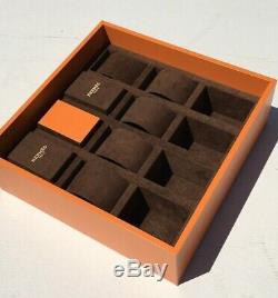 Rare Original Hermes Bracelet Watch Box Display Presentation Case Storage