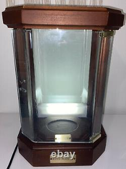 Rare Remy Martin Louis XIII Cognac Curio Display Case Wood Lighted Cabinet