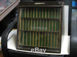 Remington Bullet/Pocket Knives Display Case