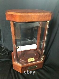 Remy Martin Louis XIII Cognac Curio Display Case Wood Lighted Cabinet Rare
