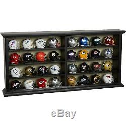 Riddell NFL MINI Team Helmet Collection Set Of 32 With Wood / Acrylic Display Case