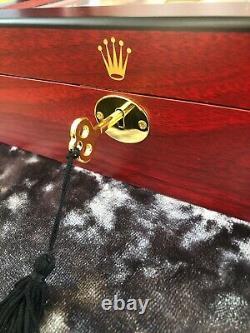 Rolex Luxury Wooden Watch Display Box / Case Holds 10 watches